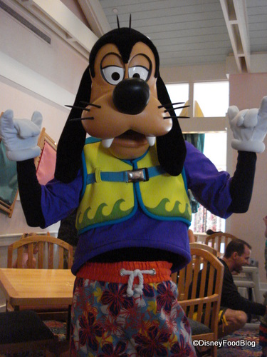 Goofy's about to hang ten!