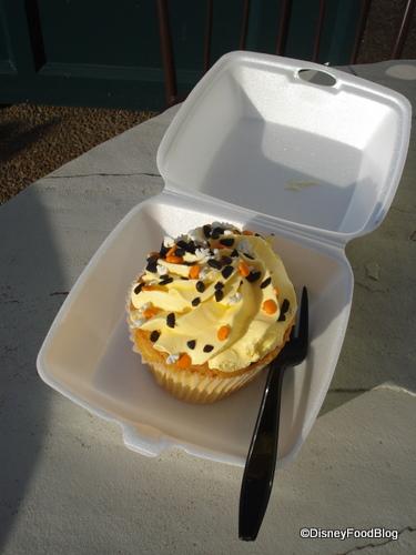 Halloween Sprinkles on This Boardwalk Bakery Cupcake