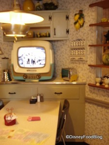 TV Table at 50's Prime Time Cafe