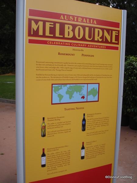 Melbourne, Australia Info Sign