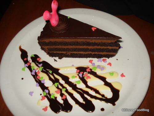 Le Cellier Chocolate on Chocolate Whiskey Cake