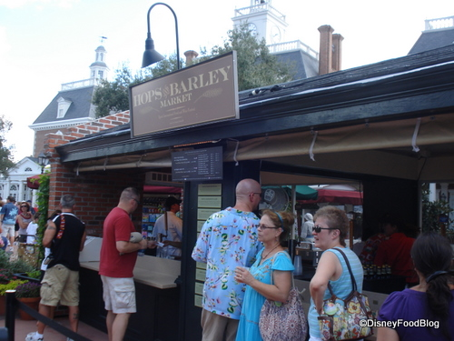 Hops and Barley Booth in the American Pavilion