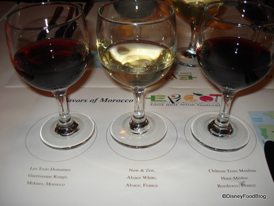 Trio of Wines for Tasting