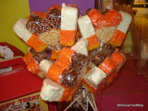 Crisped Rice Treats Shaped Like Mickey Heads and Candy Corn