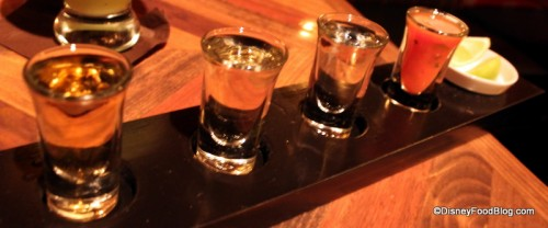 Tequila flight at La Cava del Tequila -- The Festival Flight will probably look similar