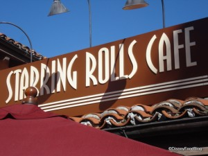 Starring Rolls Cafe sign