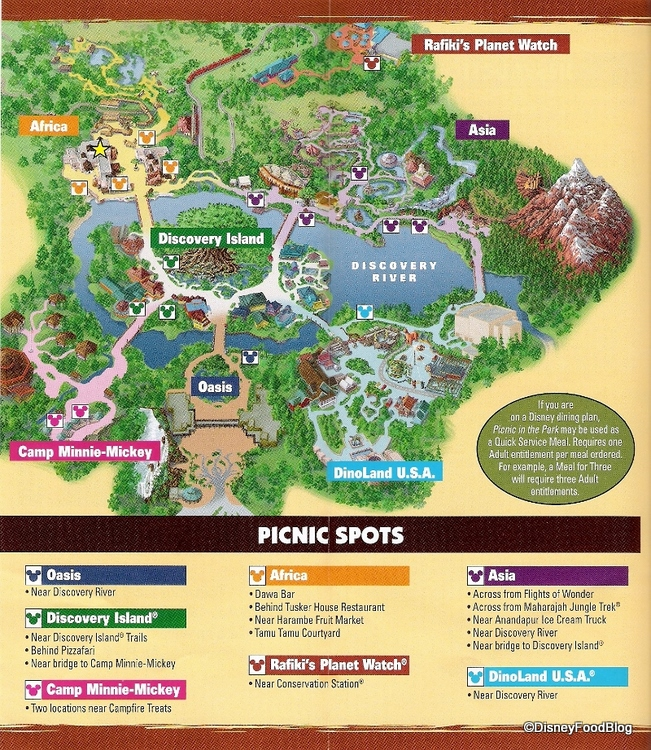 AK Picnic In the Park Picnic Spots Map