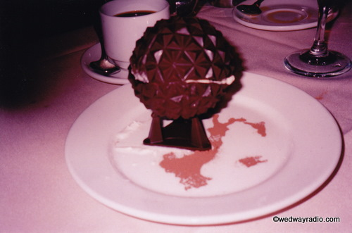 Millennium Dessert: Chocolate Spaceship Earth