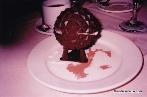 Millennium Dessert: Chocolate Spaceship Earth