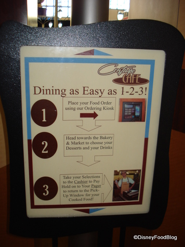 Contempo Cafe Ordering System Instructions