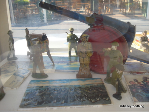 Soldiers Watch Over Postcards