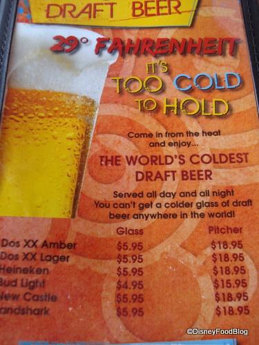 Paradiso 37 Beer Menu