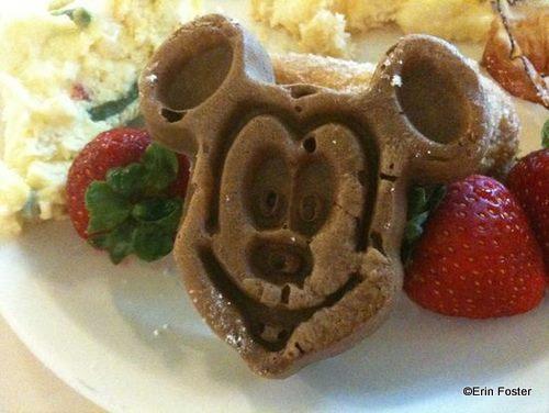 choc mickey waffle