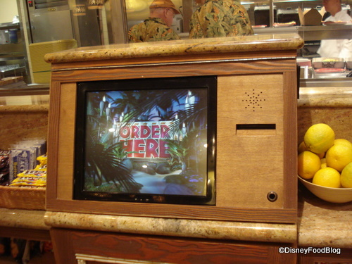 Computer Order Screen at Captain Cooks