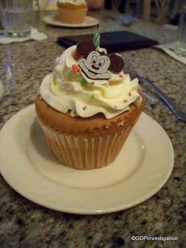 Grand Floridian Cafe Birthday Cupcake