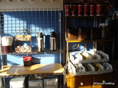 Boardwalk Bakery condiment counter