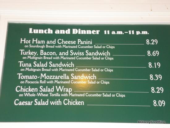 Boardwalk Bakery Lunch and Dinner Menu