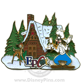American Adventure in Epcot -- Gingerbread House Pin 2009