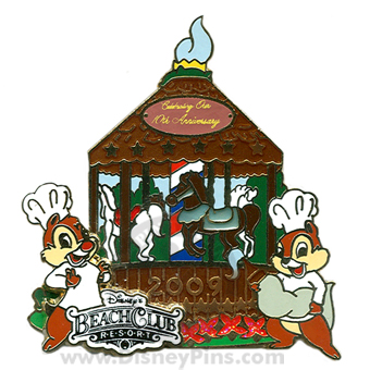 Beach Club 10th Anniversary Gingerbread Carousel Pin 2009