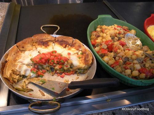Vegetable Lasagna and Turkey Hash
