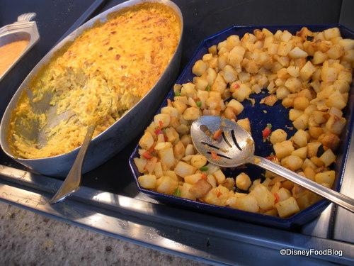 Cheesy Potatoes on the Left