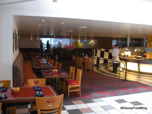 Seating Area and Buffet