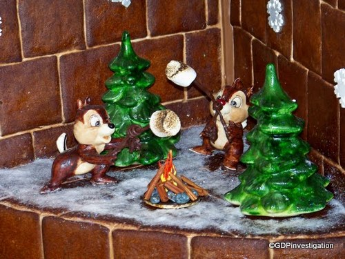 Chip and Dale Roasting Marshmallows