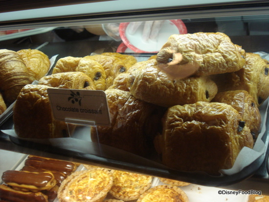 Bakery items at boulangerie patisserie