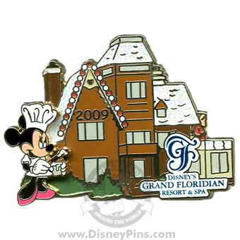 Grand Floridian Gingerbread House Pin 2009