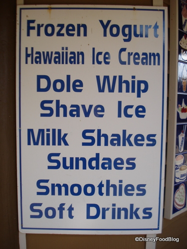 Zack's Dole Whip Sign