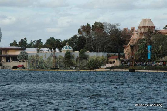 Cantina from across World Showcase Lagoon