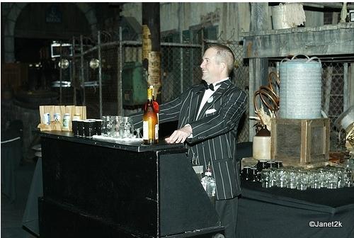 Bartender in Gangster Scene