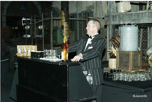 Bartender in Gangster Scene