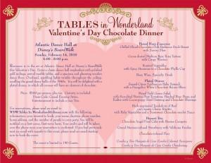 Valentine's Day Tables in Wonderland Dinner