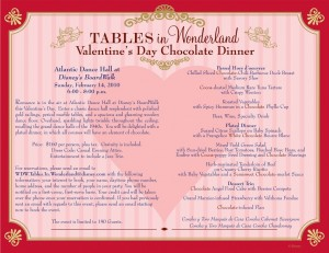 Valentine's Day Tables in Wonderland Dinner