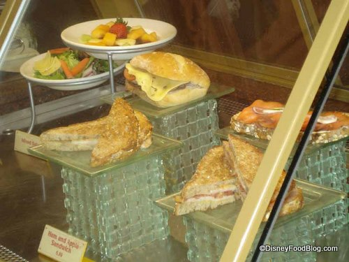 Sandwiches and Fruit Salad