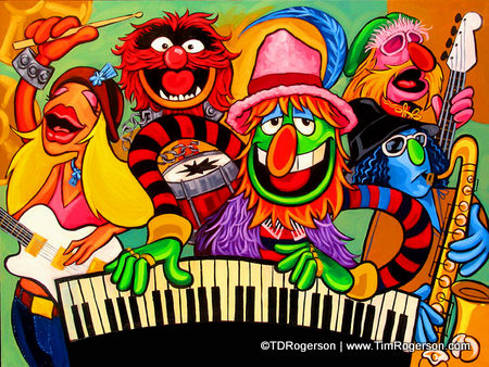 Titled: Electric Mayhem -- From the Disney Fine Art Collection