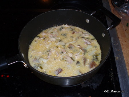 Boma Chicken Corn Chowder on the Stove