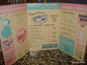 Beaches and Cream Menu Side 1