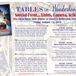 New Tables in Wonderland Dinners Announced