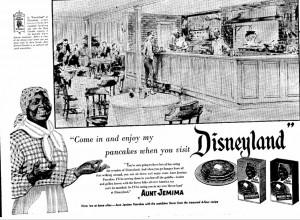 Disneyland's Aunt Jemima Restaurant Advertisement