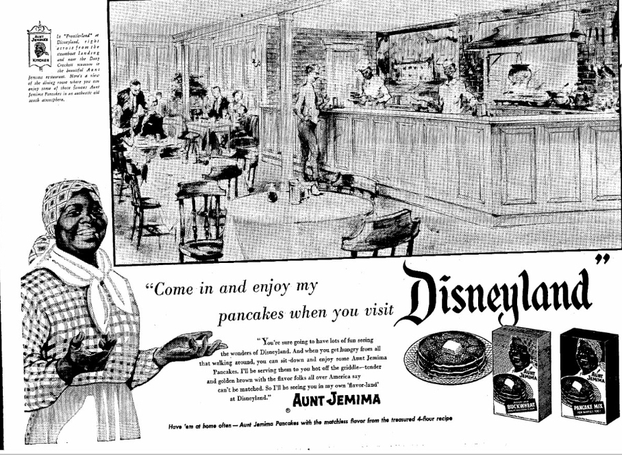 Disneylands Aunt Jemima Restaurant Advertisement