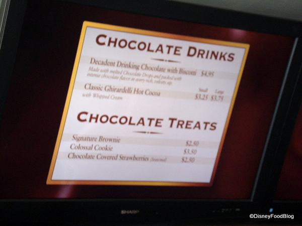 Ghirardelli Chocolate Drinks and Treats