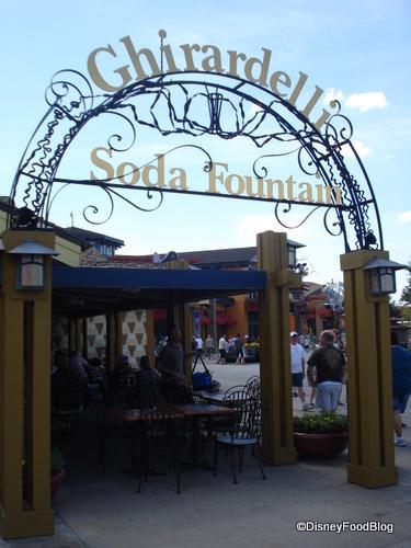 Ghirardelli Soda Fountain Downtown Disney
