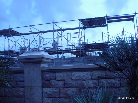 Construction Workers are in Full View of Guests in the Park