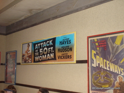 Sci-Fi Dine-In Movie Posters in Entrance Area