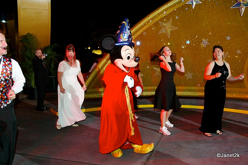 Sorcerer Mickey Leads the Dance