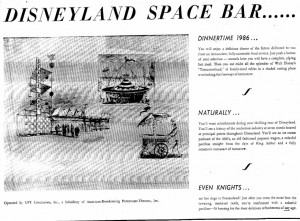 Disneyland Space Bar Advertisement