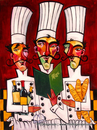 Titled: Tres Chefs -- From the Night Out Collection