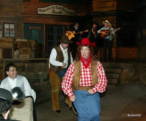 Streetmosphere Characters and a Western Band Entertained